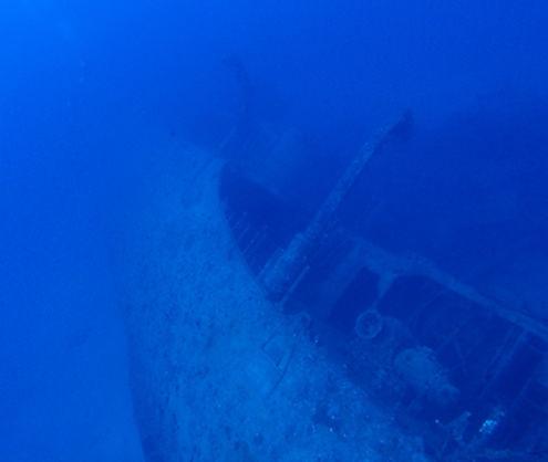 水深30メートルの様子