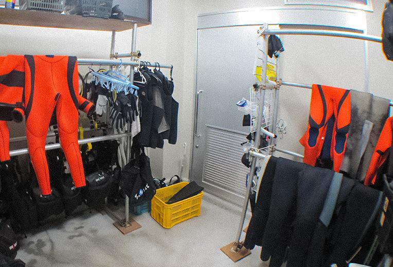 器材洗い場の様子